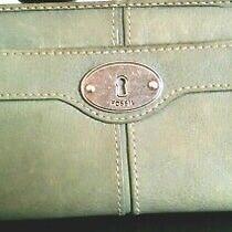 Women's Classy Green Leather