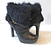 Women's Coach Black Athena Booties W/ Fur Size 8.5 Photo