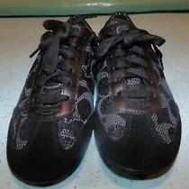 Women's Coach Black Mesh Sneakers- Size 7- Euc Photo