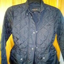 Women's Coach Black Quilted Legacy Jacket Coat Size Xs Ec Authentic Photo