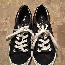 Women's Coach Black / White Sneakers Size 6 Photo