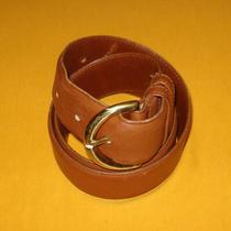 Women's Coach British Tan Made in u.s.a. Glove Tanned Leather  Belt Size M. Photo