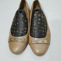 Women's Coach Gold Flats Size 10b Photo