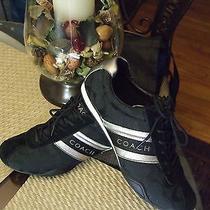 Women's Coach Jayme Black & Silver Fashion Sneaker Shoes 9 M  Photo