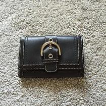 Women's Coach Leather Wallet Black Photo