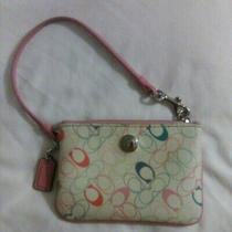 Women's Coach Multicolor Small Wristlet Leather Photo