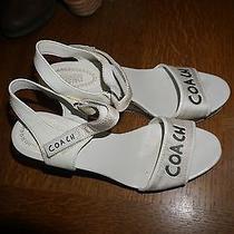 Women's Coach Poppy Wedge Sandals Size 10 Photo