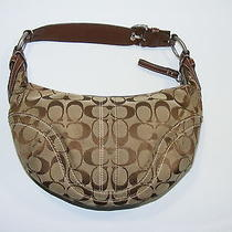 Women's Coach Purse Authentic Signature Brown Small Hobo Bag Clutch  Co6k10073  Photo