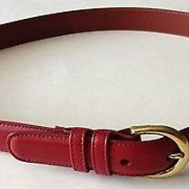 Women's Coach Red Leather Belt Photo