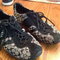 Women's Coach Remonna Fashion Sneakers Shoes Size 7 Black and Gray  Photo