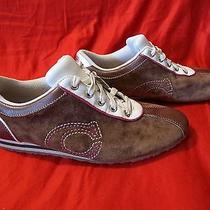 Women's Coach Shoes Brin Leather Suede Casual Walking Sneakers Leatherware 8 M  Photo