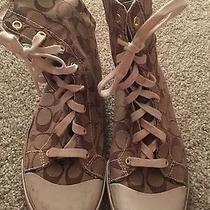 Women's Coach Size 8.5 Hi Top Sneaker Photo