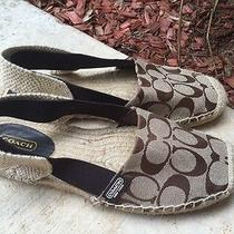 Women's Coach Sling Back Shoes Size 8 Photo