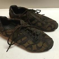 Women's Coach Sz 7 1/2 W Katelyn Signature Sneakers Brown Photo