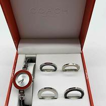 Women's Coach Watch With Changeable Faces in Case  Photo