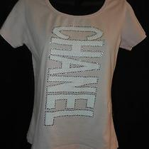 Womens Coco Chanel Designer Tee Shirt Size Extra Large Pink Sz Xl Rhinestones Photo