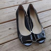 Women's Cole Haan Black Patent Leather Wedge Size 10 Photo