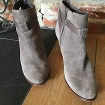 Women's Cole Haan Gray/taupe Suede Bootie Size 10.5 Photo