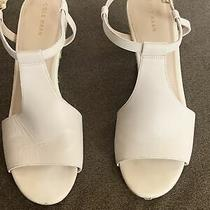 Womens Cole Haan Wedge Heels Sz 9 B Ankle Strap Open Toe Detail on Wedge Photo