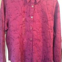 Women's Columbia Blouse Nwt Size Large Wine Photo