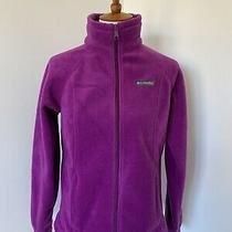 Womens Columbia Fleece Purple Grape Raspberry Small S Full Zip Jacket Photo