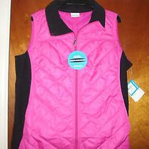 Women's Columbia Mix It Around Water Repellent Fleece Vest Deep Blush Size 1x Photo