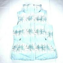 Women's Columbia Omni Heat Insulated Zip Up Ice Blue Vest Size Large Photo