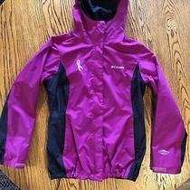 Womens Columbia Omni-Tech Waterproof Breathable Packable Rain Jacket S Photo