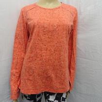 Women's Columbia Orange Floral River Resort  Sweatshirt Size- M Photo