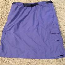 Women's Columbia Purple Cargo Hiking Outdoor Skirt Size Small Photo