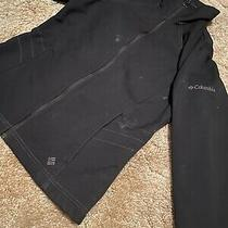 Women's Columbia Softshell Zip Black Jacket Size Xs - Vintage & Retro Photo