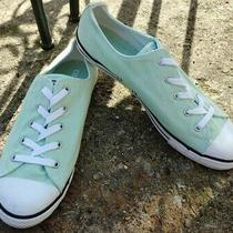 Women's Converse All Star Dainty Mint Green Canvas Lowtop Sneakers Size 10.5 Photo