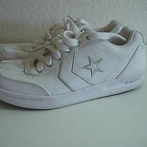 Women's Converse Live Life White Athletic Leather Sneakers Size 7 Photo