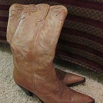 Women's Cowboy/ Western Lucchese Antique Yellow Leather Size 7 Medium Photo