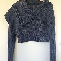 Women's Cut25 Yigal Azrouel Grey Asymmetrical Drape Neck Sweater Nwot - Xs Photo