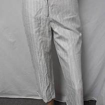 Women's Cute Calvin Klein Ceramic Zip Fly Cropped Pants Size- 2 New With Tags Photo