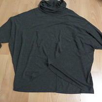 Women's Dark Gray Turtle Neck Long Sleeve Sweater Top by Grace Elements Sz M  Photo