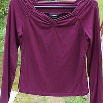 Womens Dark Purple Shirt by Express Size  Large Photo
