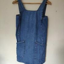 Women's Denim Dress Size 8 Topshop Blue With Pockets Photo