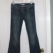 Women's Denim Express Stella Fit Flared Distressed Jeans Sz 0 Photo