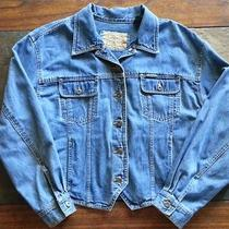 Women's Denim Jean Jacket Liz Claiborne Large Like