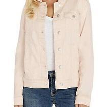 Womens Designer Denim Stretch Blush Pink Jacket  Nwt  Size Xl (Size 14-16) Photo