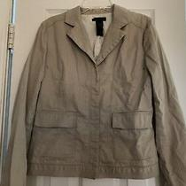 Womens Designer Jacket Blazer Suit Beige Sz 8 Kenneth Cole Pin Striped Photo