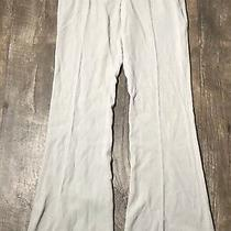 Women's Designer Theory Dress Pants Sz 2 Gray Straight Leg Trouser Wool/viscose Photo