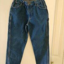 Women's Dickies Blue Jeans Size 14 Petite Pre-Owned 4 Photo