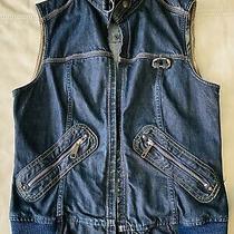 Women's Diesel Denim Vest Size Xl Blue Acid Rage Preowned in Great Condition. Photo