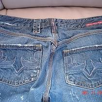 Women's Diesel Jeans Slim Distressed Paint Splashed Size 28 Photo
