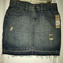 Women's Dkny Blue Denim Skirt Photo