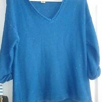 Women's Dkny Blue Sparkly Sweater Size M Photo
