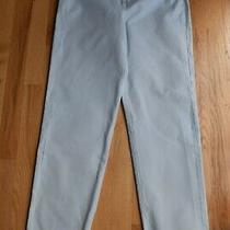 Womens Dkny Blue Straight Leg Side-Zip Pants (2) 100% Cotton 30 Inseam Photo